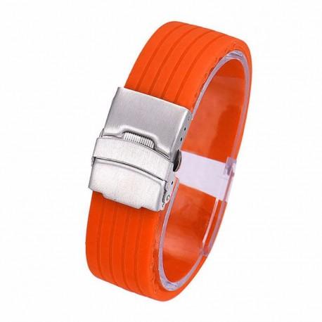 Curea de silicon orange cu inchidere deployant WZ862