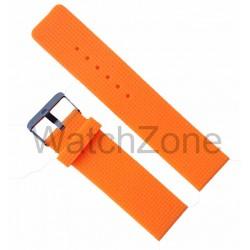 Curea silicon portocalie 22mm