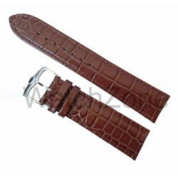 Curea Ceas Piele Imprimeu Crocodil Light Brown 24mm WZ1034