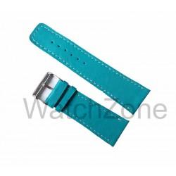 Curea de ceas HAND MADE Albastra 28mm