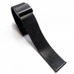 Bratara ceas impletita neagra 18mm 20 mm 22mm 24mm