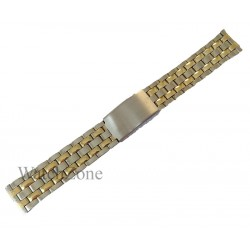 Bratara ceas argintie cu elemente aurii 20mm