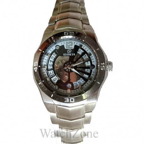 Ceas Barbatesc Automatic Goer Metal Black