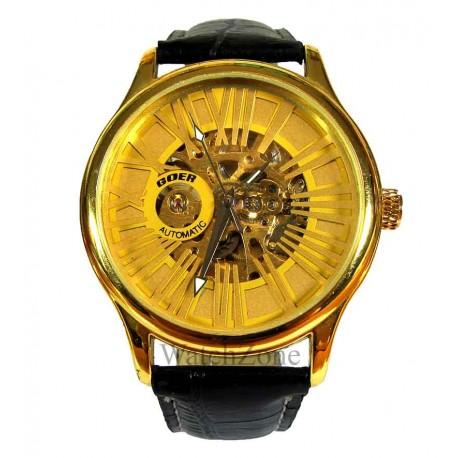 Ceas Barbatesc Automatic Goer Roman Gold