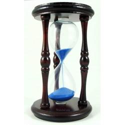 Clepsidra clasica din lemn cu nisip albastru / mov