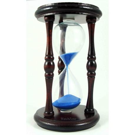 Clepsidra clasica din lemn cu nisip albastru