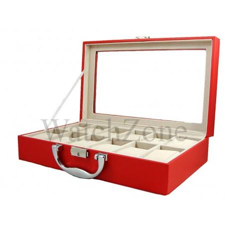 Cutie pentru depozitare si organizare 12 ceasuri ROSIE