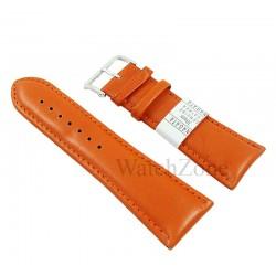 Curea ceas piele portocalie 30mm NAGATA