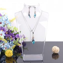 Bust expunere bijuterii acrilic transparent