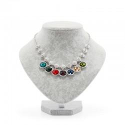 Bust expunere bijuterii gri mediu din catifea