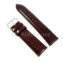 Curea Ceas Piele Maro Chocolate Imprimeu Sarpe 12mm - 24mm