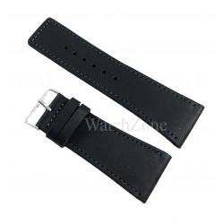 Curea ceas HAND MADE Neagra Cusatura Albastra 24mm 26mm 30mm