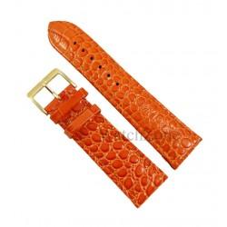 Curea ceas portocalie piele naturala NAGATA 22mm