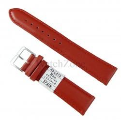 Curea ceas piele naturala rosie 20mm NAGATA