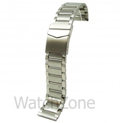 Bratara de Ceas Argintie cu Siguranta 22mm WZ842