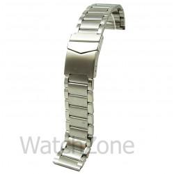 Bratara de Ceas Argintie cu Siguranta 24mm WZ842