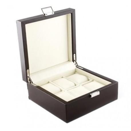 Cutie depozitare 6  ceasuri - piele interior