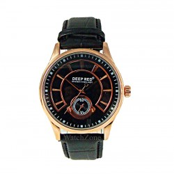 Ceas Barbatesc Elegant Deep Red Timer Copper WZ020