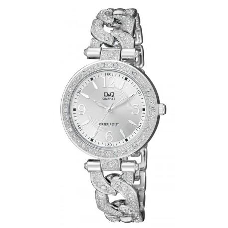 Ceas Dama Fashion Q&Q F539-204Y Argintiu