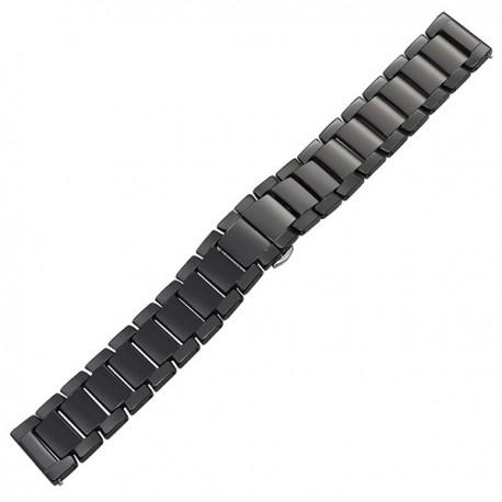 Bratara ceas ceramica neagra 18mm 20mm 22mm WZ125