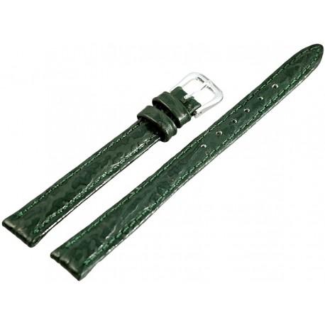 Curea Ceas Piele Naturala Verde Imprimeu 10mm 813860600110