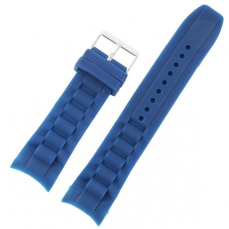 Curea Ceas Silicon Albastru Capete Curbate 22mm 8400004