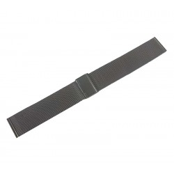 Bratara Ceas Milaneza Neagra din Otel Inoxidabil 22mm WZ2088