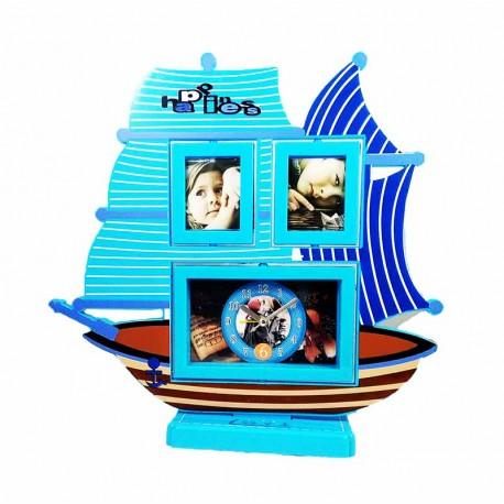 Ceas De Masa Copii Cu Rama Foto SAILING SHIP WZ2187