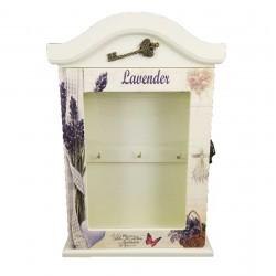 Cutie Chei din Lemn cu Geam Lavender WZ2224