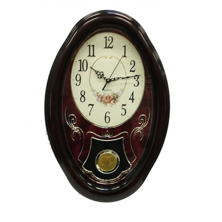 Ceas de Perete cu Pendula WallClock Rose TLD-8392
