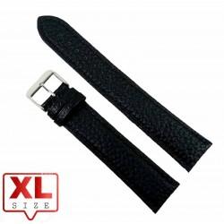 Curea Ceas XL 22mm Piele Naturala Neagra Solida WZ2331