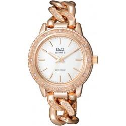 Ceas Damă Fashion Q&Q Auriu Roze F535-011