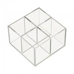 Cutie Material Acrilic Transparent 4 Spații WZ2381