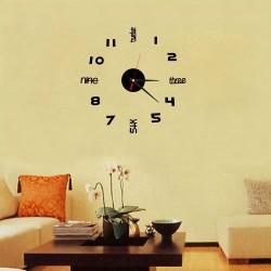 Ceas de perete 3D negru DIY