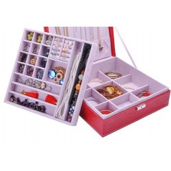 Caseta  de bijuterii roșie / maro - Fiona