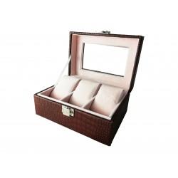 Cutie depozitare 3 ceasuri, peiele ecologică - WZ2498