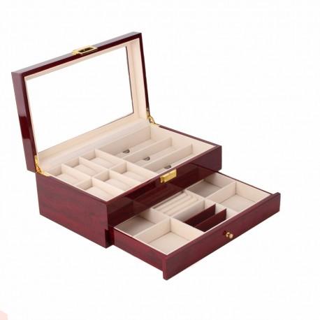 Cutie depozitare ceasuri, ochelari și bijuterii LEMN