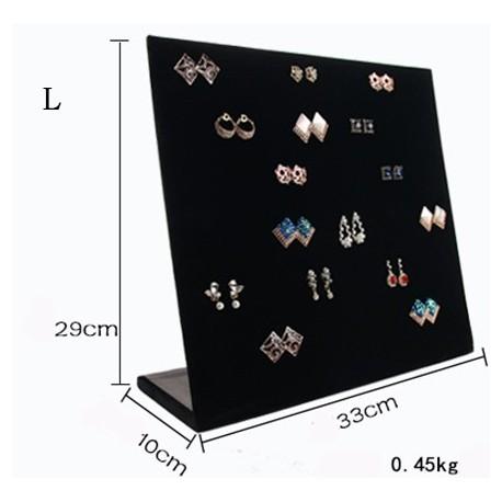 Suport expunere cercei catifea negru - WZ2504
