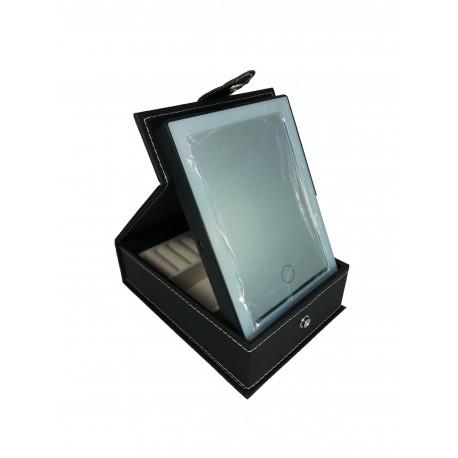 Cutie de bijuterii cu oglindă iluminată LED