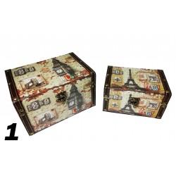 Set 2 cutii depozitare - diverse imprimeuri
