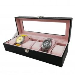 Cutie depozitare și expunere 5 ceasuri - imprimeu crocodil