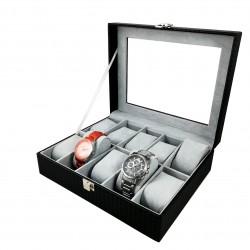 Cutie depozitare și expunere CARBON - 10 ceasuri