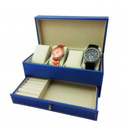 Cutie depozitare ceasuri si bijuterii Adele rosie / neagra / albastra / alba