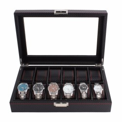 Casetă pentru 12 ceasuri - stil carbon