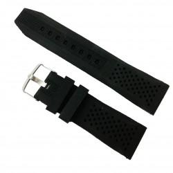 Curea Neagră Silicon cu găurele -  22mm, 24mm