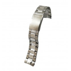 Brățară de ceas din oțel inoxidabil FOSSIL - capete curbate 22mm