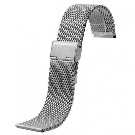 Bratara ceas metalica 18 mm - impletita