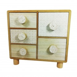 Casetă depozitare din lemn natur - WZ2807
