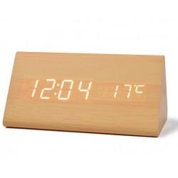 Ceas de masă LED cu Alarmă și Termometru - Triunghiular