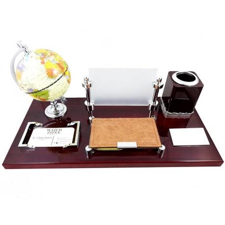 Set birou cu globul pământesc